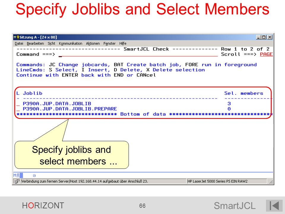Specify Joblibs and Select Members