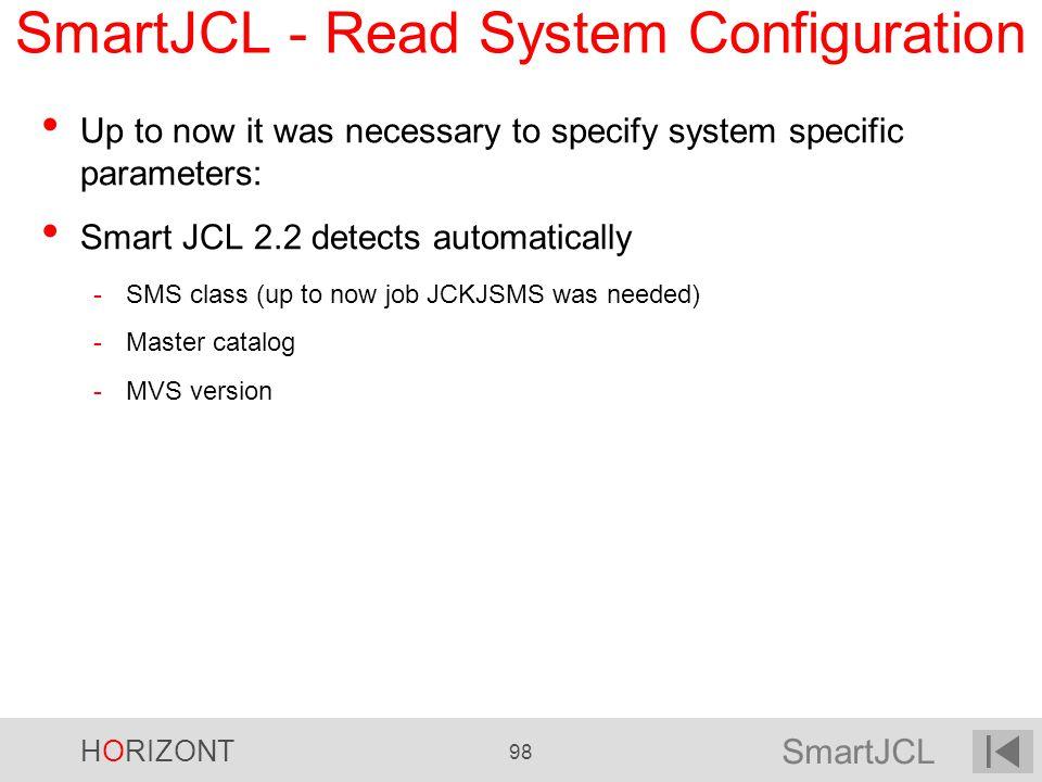 SmartJCL - Read System Configuration
