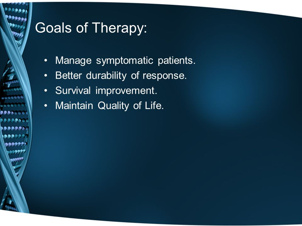 Goals of Therapy: Manage symptomatic patients.