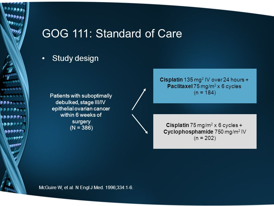 GOG 111: Standard of Care Study design
