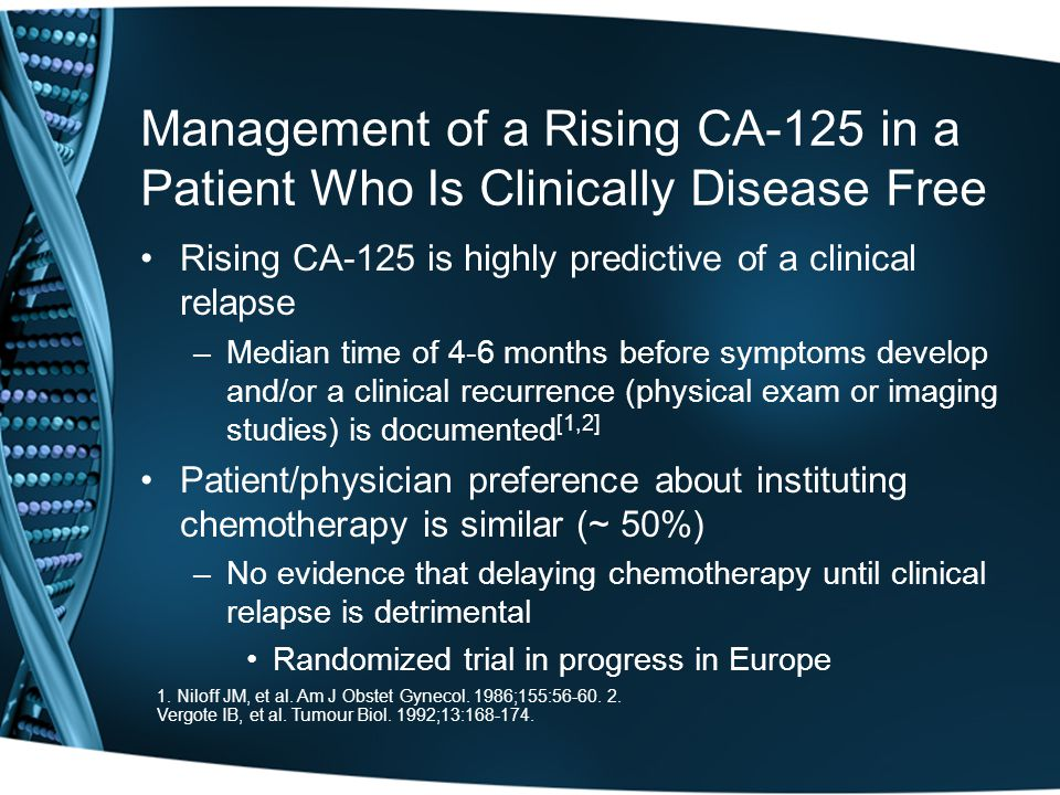 Management of a Rising CA-125 in a Patient Who Is Clinically Disease Free