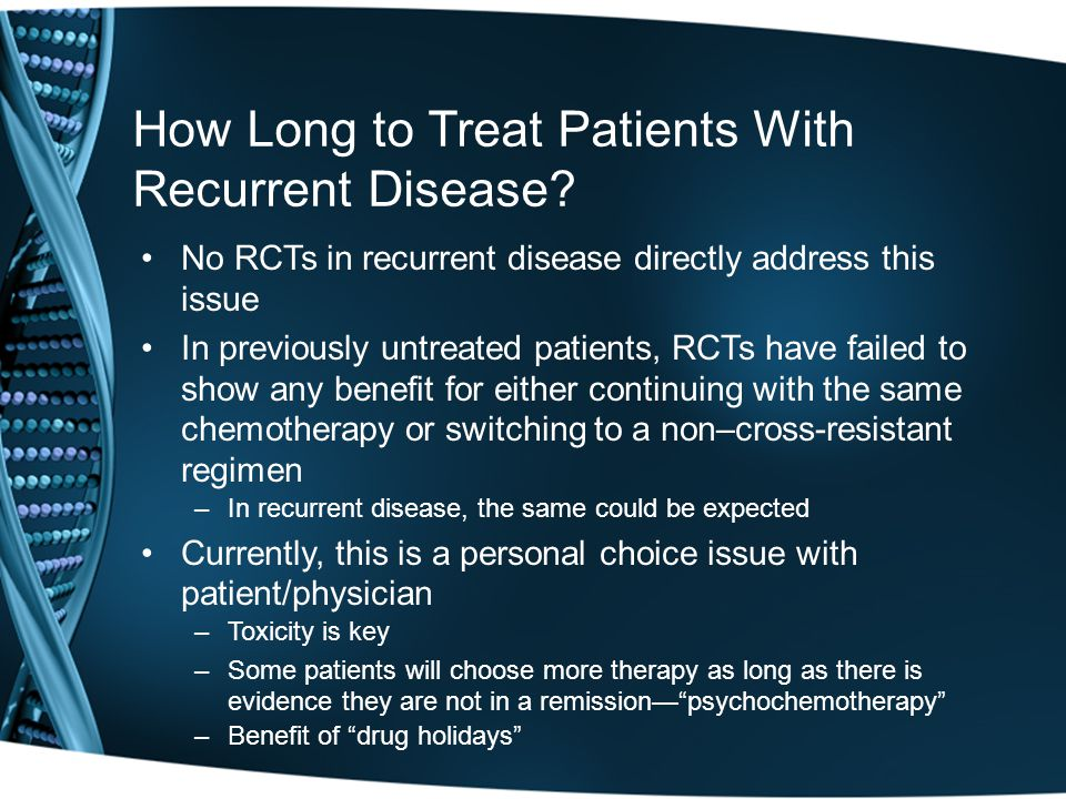 How Long to Treat Patients With Recurrent Disease