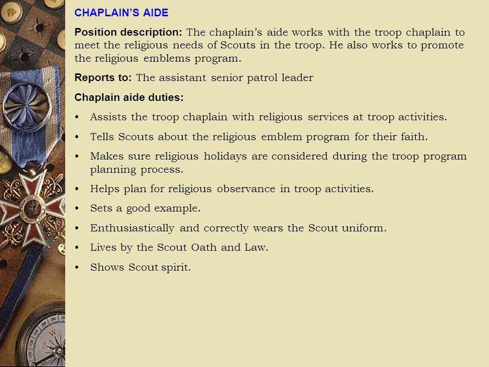 CHAPLAIN'S AIDE
