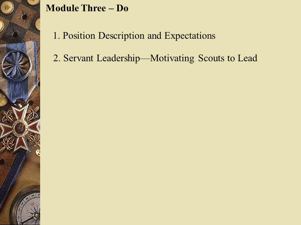 Module Three – Do 1. Position Description and Expectations.