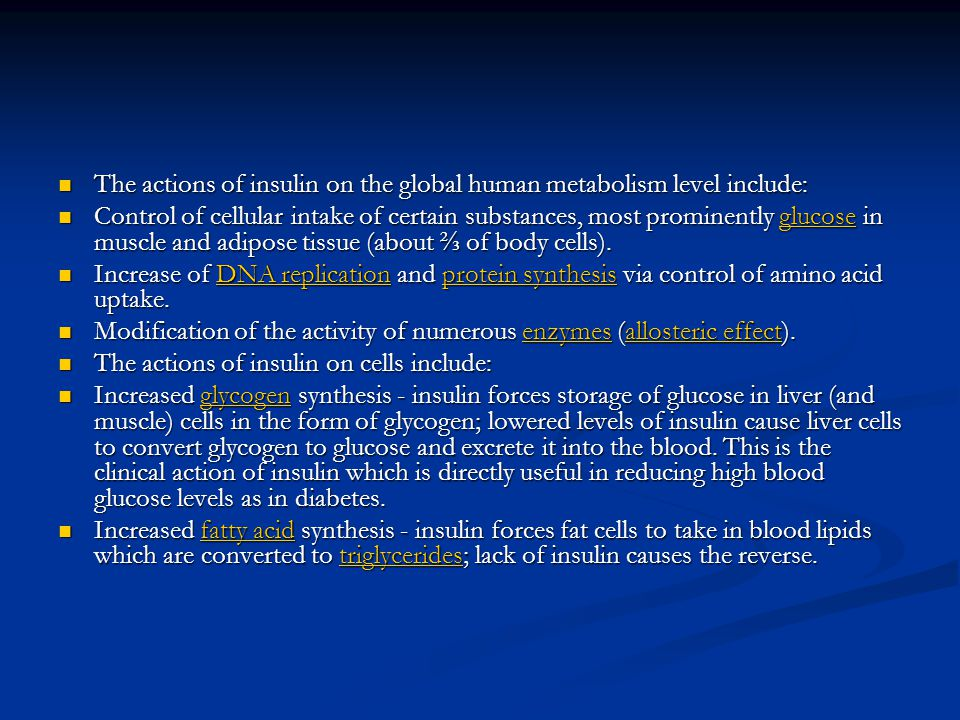 The actions of insulin on the global human metabolism level include: