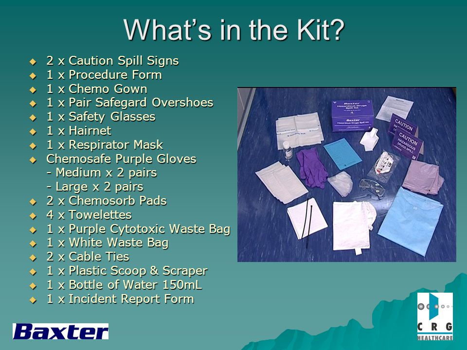 What's in the Kit 2 x Caution Spill Signs 1 x Procedure Form