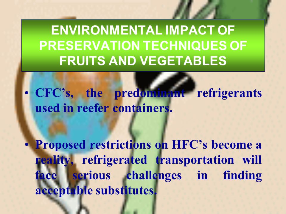 ENVIRONMENTAL IMPACT OF PRESERVATION TECHNIQUES OF FRUITS AND VEGETABLES