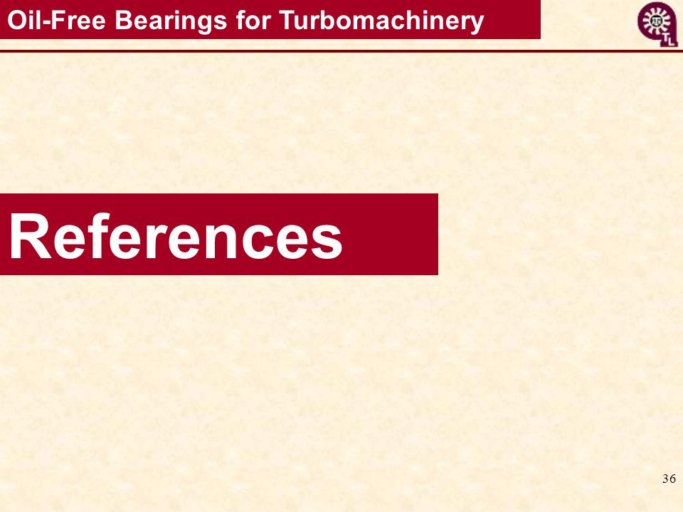 Oil-Free Bearings for Turbomachinery