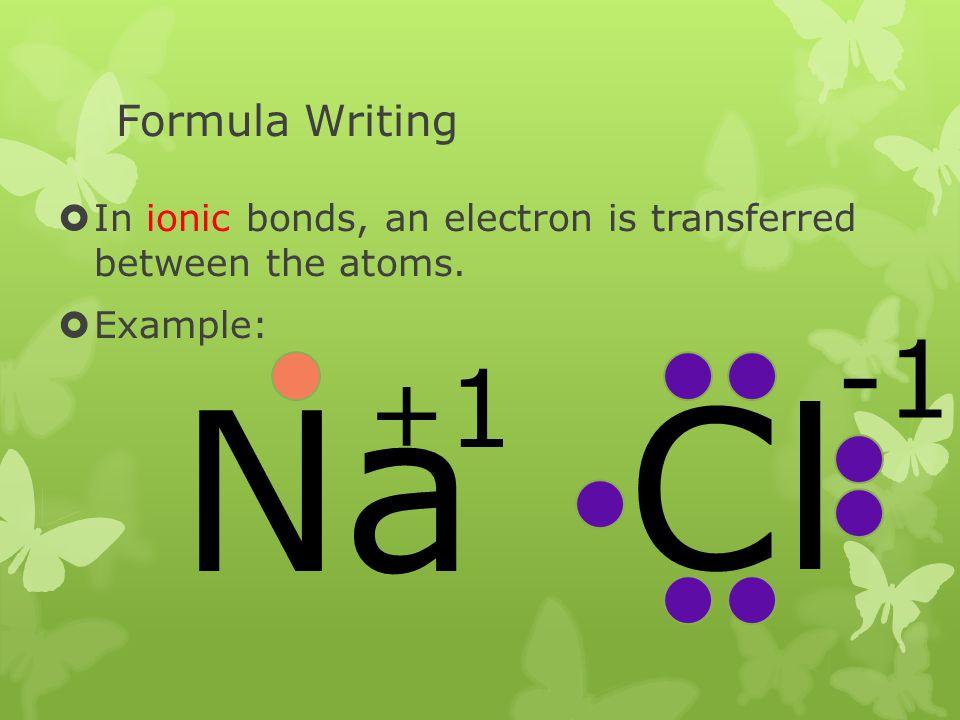 Na Cl -1 +1 Formula Writing