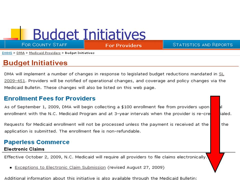 Budget Initiatives Check website before each seminar, read each initiative so we summarize what we cover today.