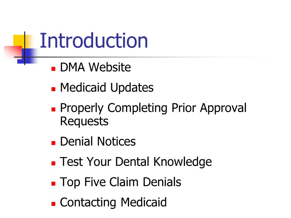 Introduction DMA Website Medicaid Updates
