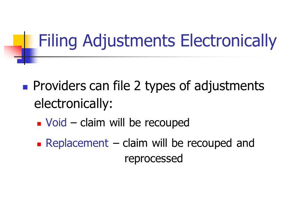 Filing Adjustments Electronically