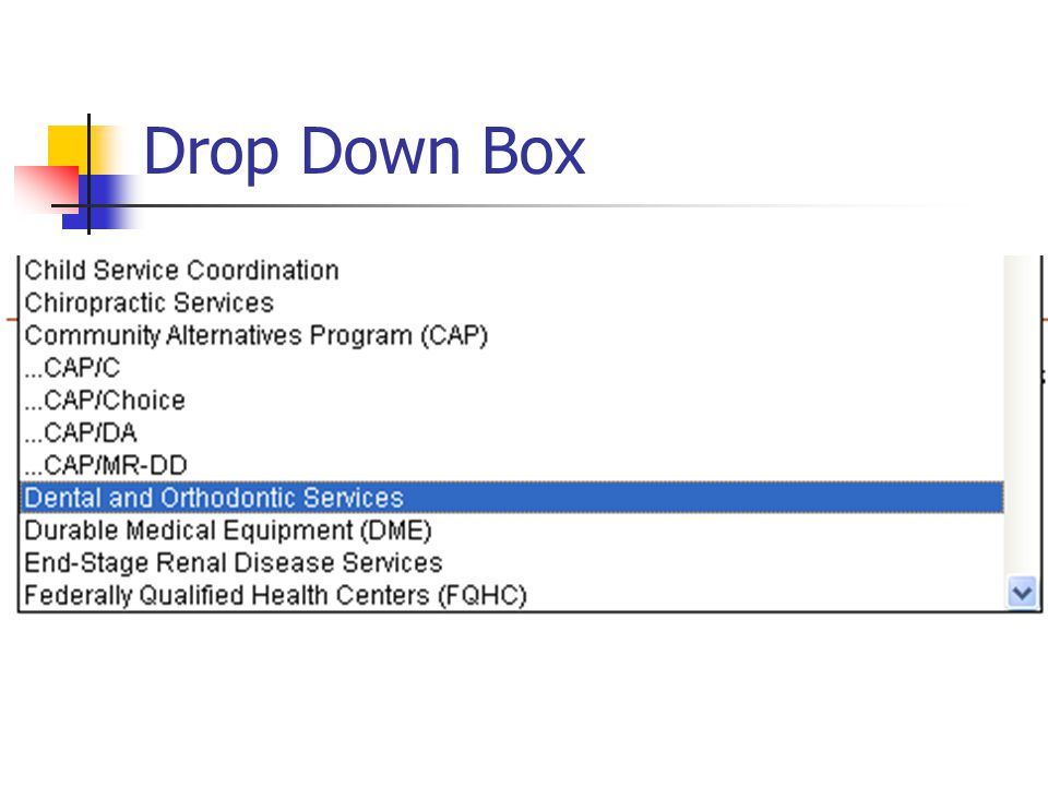 Drop Down Box