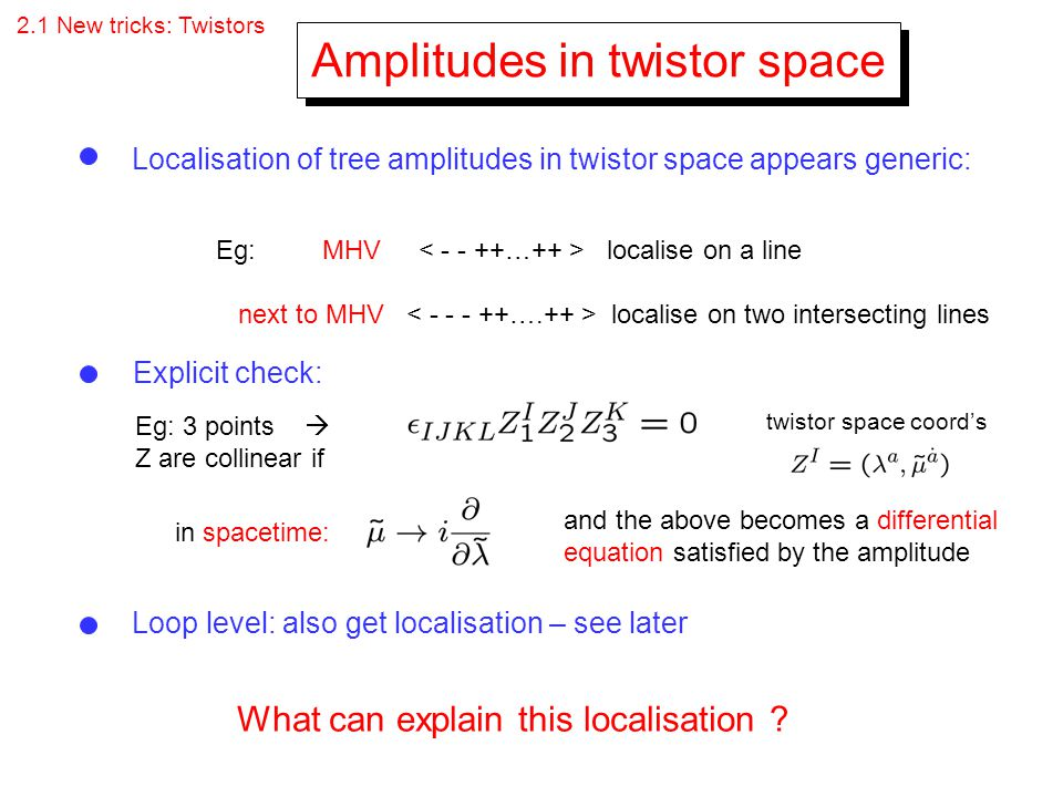 Amplitudes in twistor space