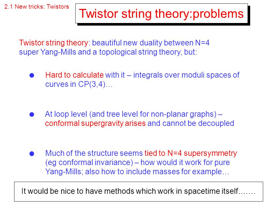 Twistor string theory:problems