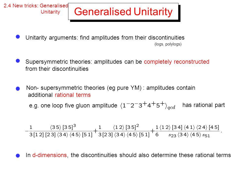 Generalised Unitarity