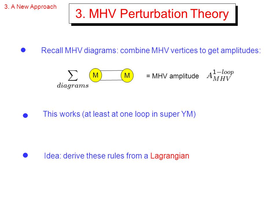 3. MHV Perturbation Theory