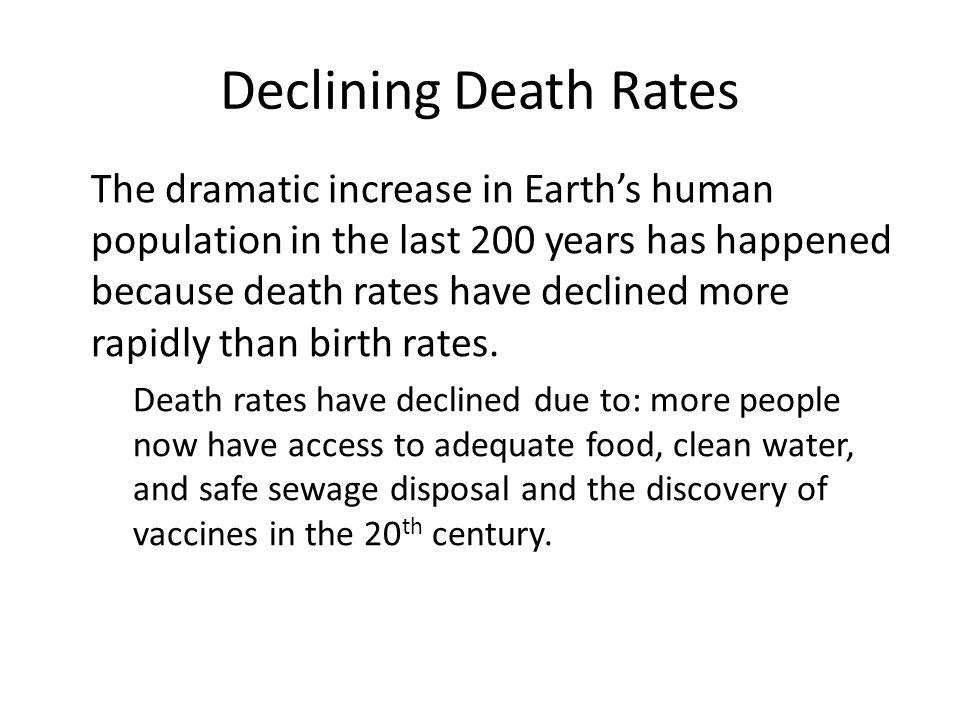 Declining Death Rates