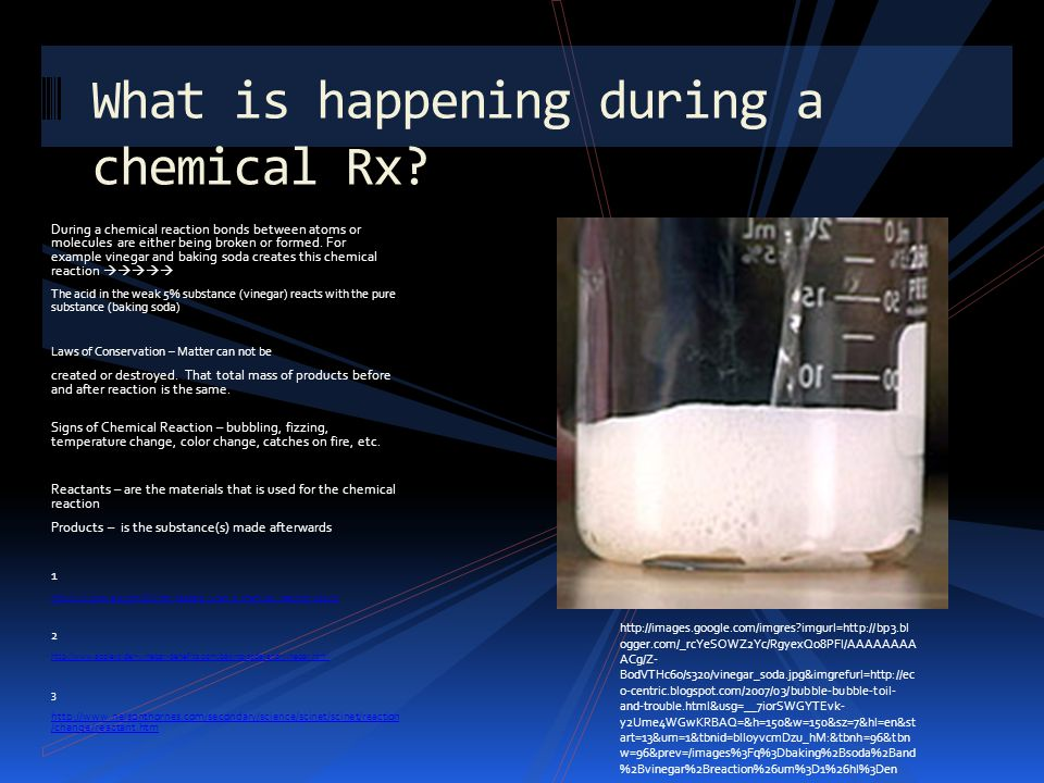 What is happening during a chemical Rx