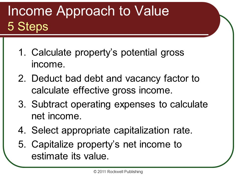 Income Approach to Value 5 Steps
