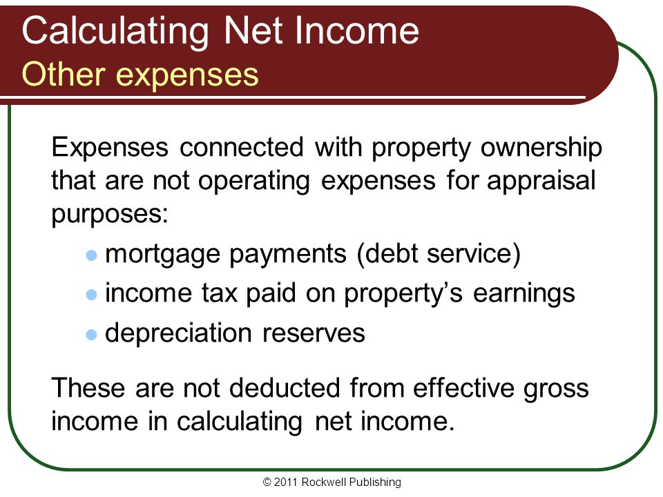 Calculating Net Income Other expenses