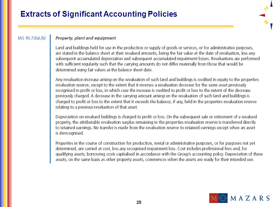 Extracts of Significant Accounting Policies