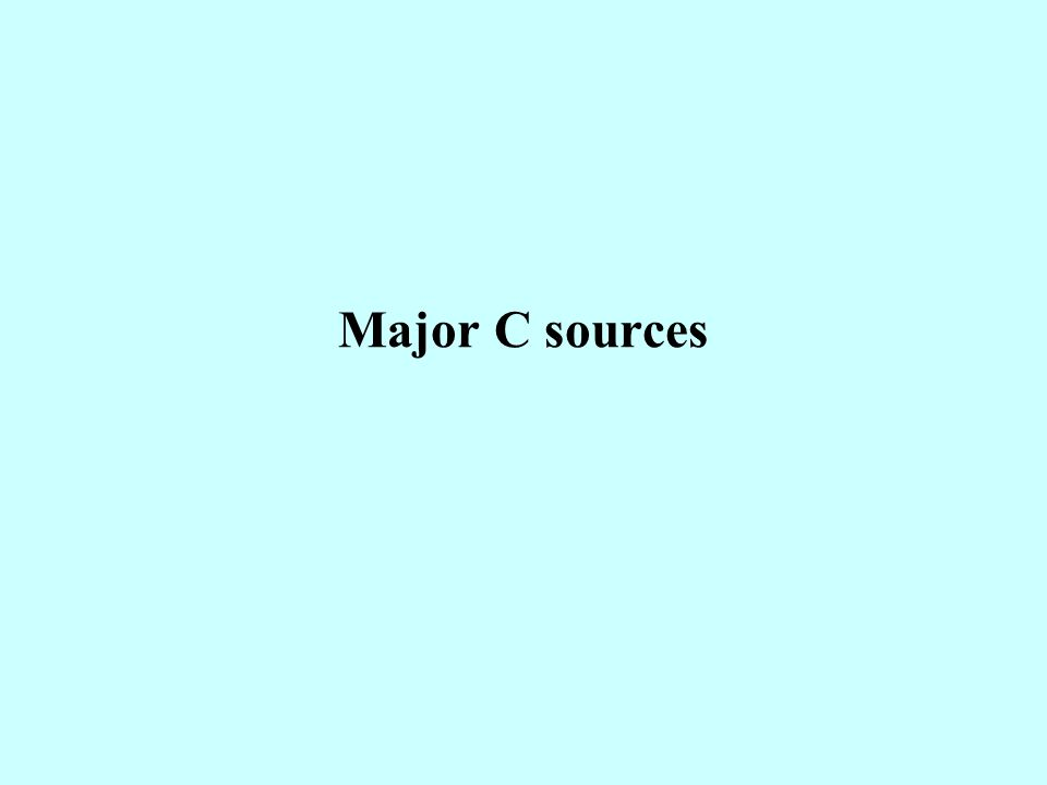 Major C sources