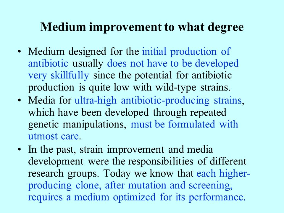 Medium improvement to what degree