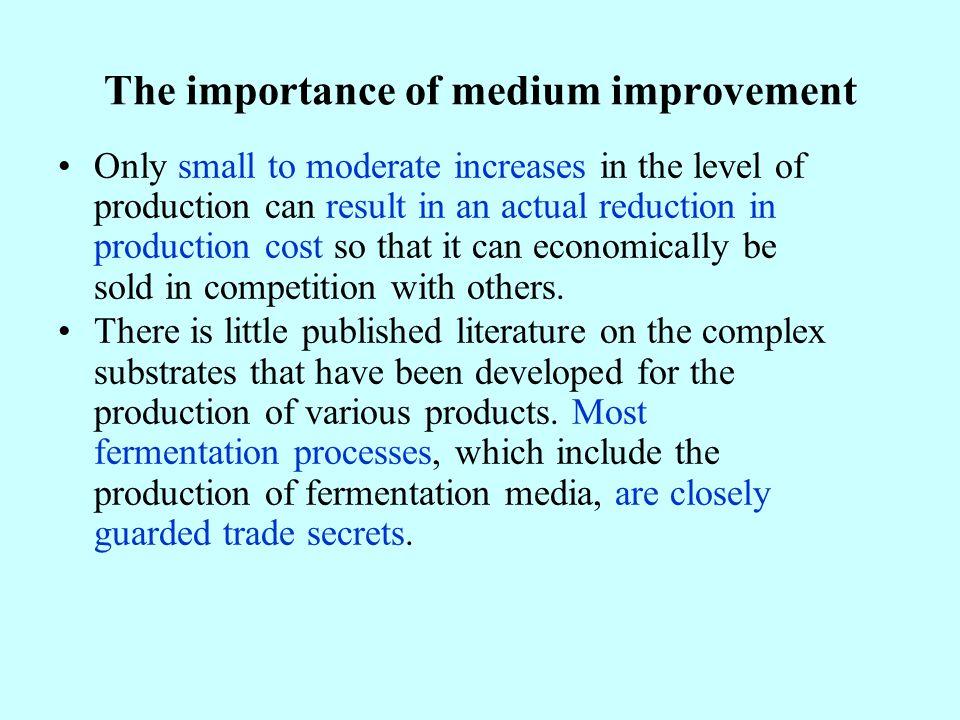 The importance of medium improvement