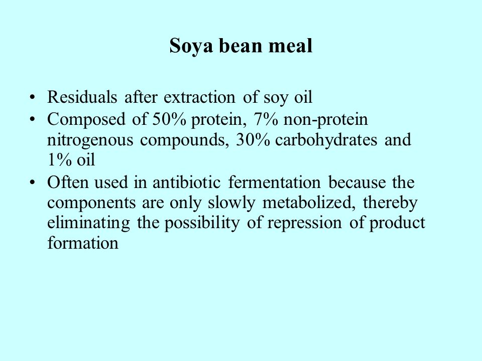 Soya bean meal Residuals after extraction of soy oil