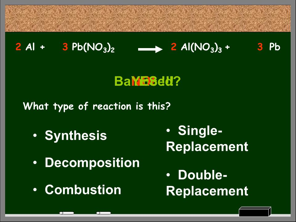 Balanced YES !!! NO! Single-Replacement Synthesis Decomposition