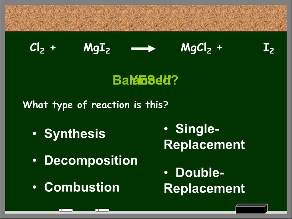 Balanced YES !!! Single-Replacement Synthesis Decomposition