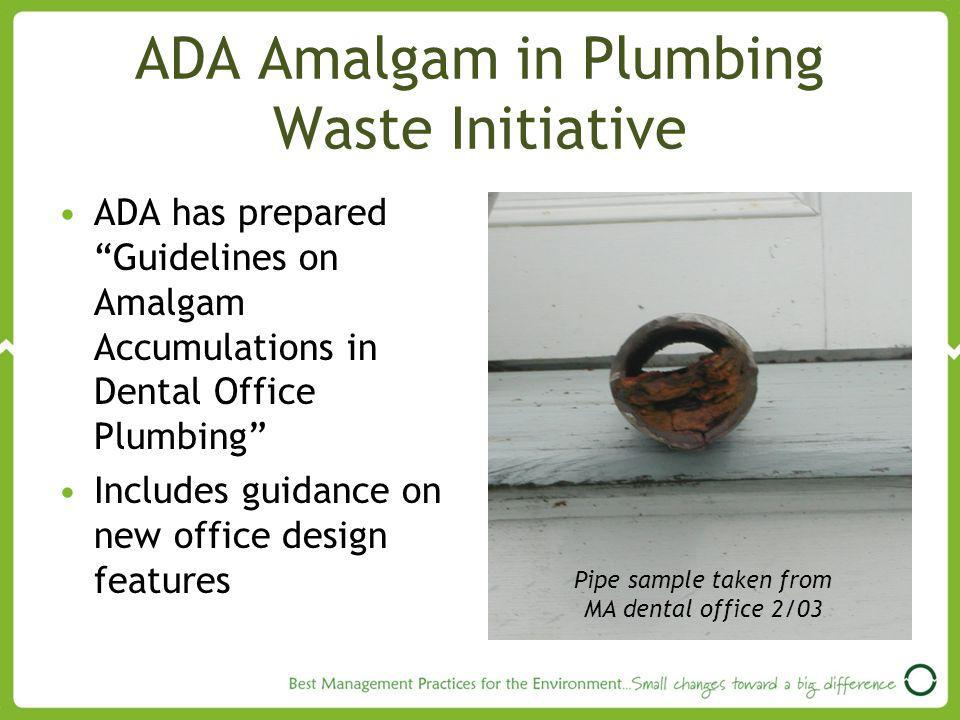 ADA Amalgam in Plumbing Waste Initiative
