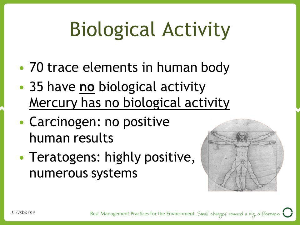 Biological Activity 70 trace elements in human body