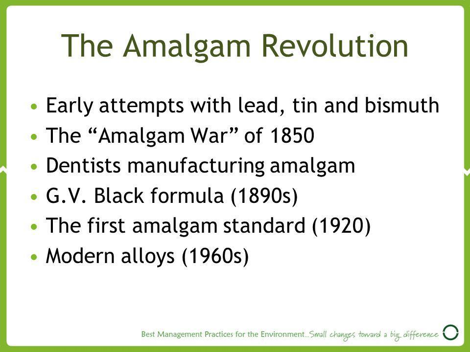 The Amalgam Revolution