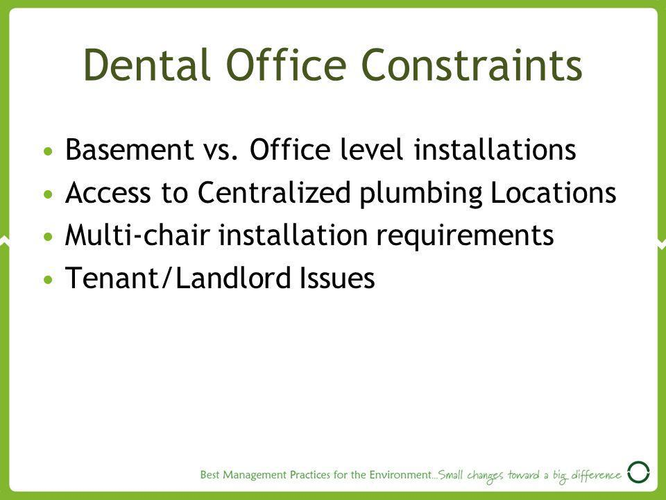 Dental Office Constraints