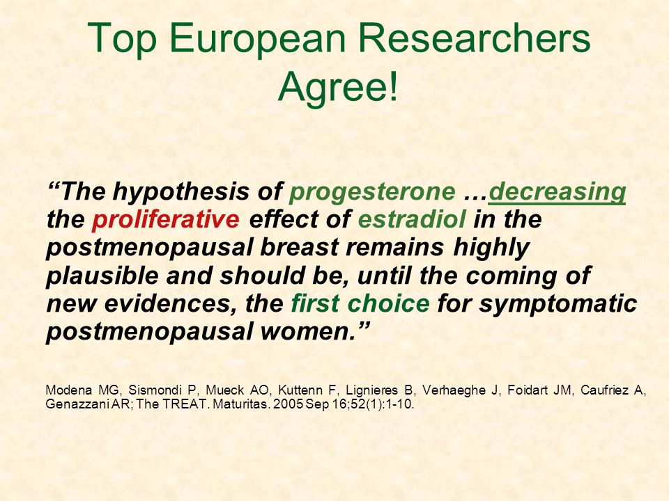 Top European Researchers Agree!