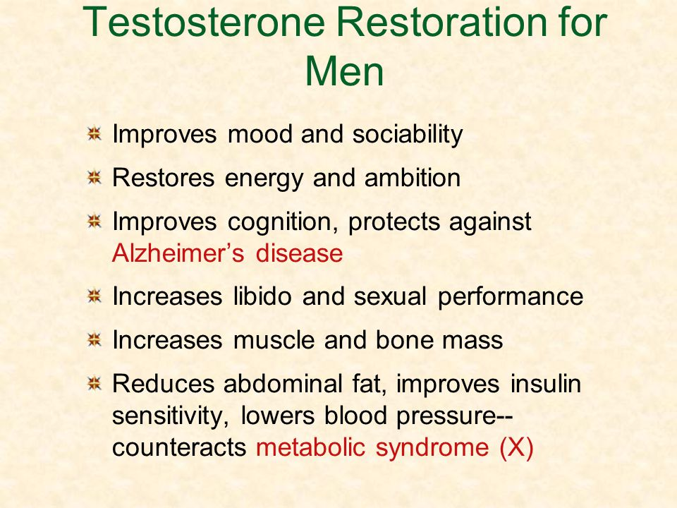 Testosterone Restoration for Men