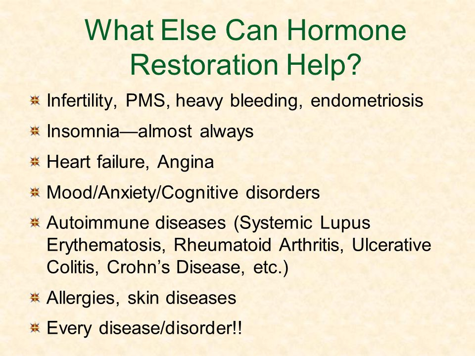 What Else Can Hormone Restoration Help