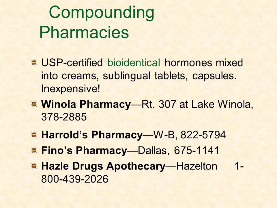Compounding Pharmacies