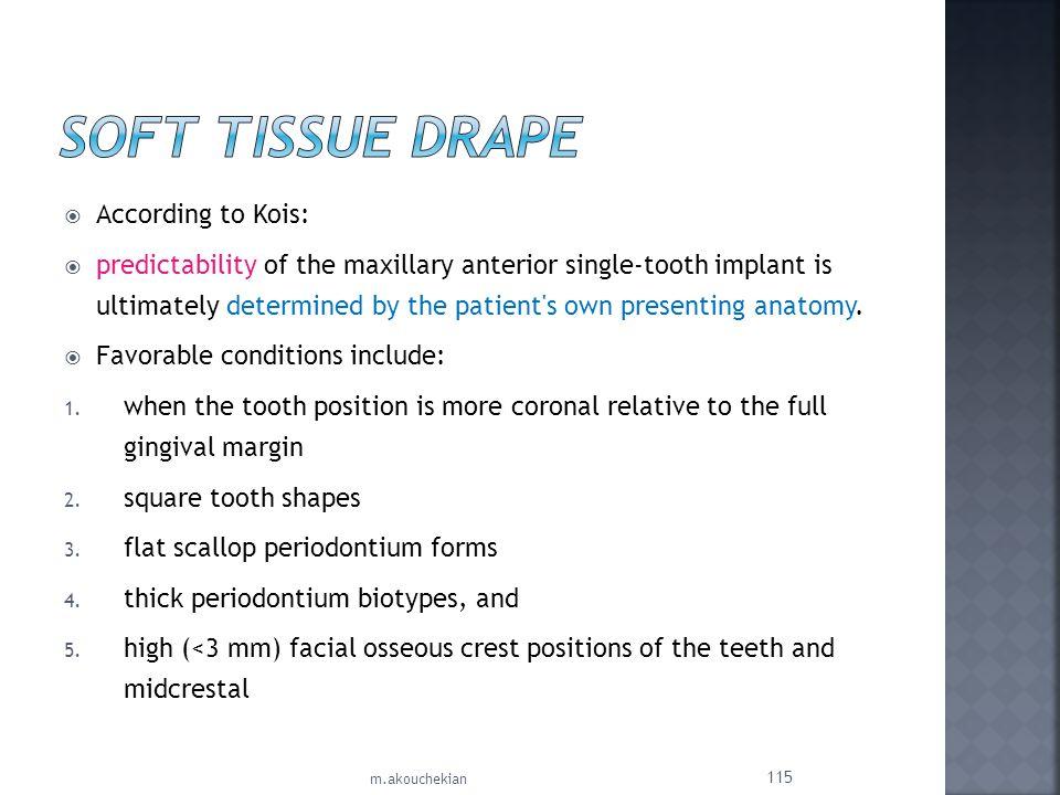 Soft Tissue Drape According to Kois: