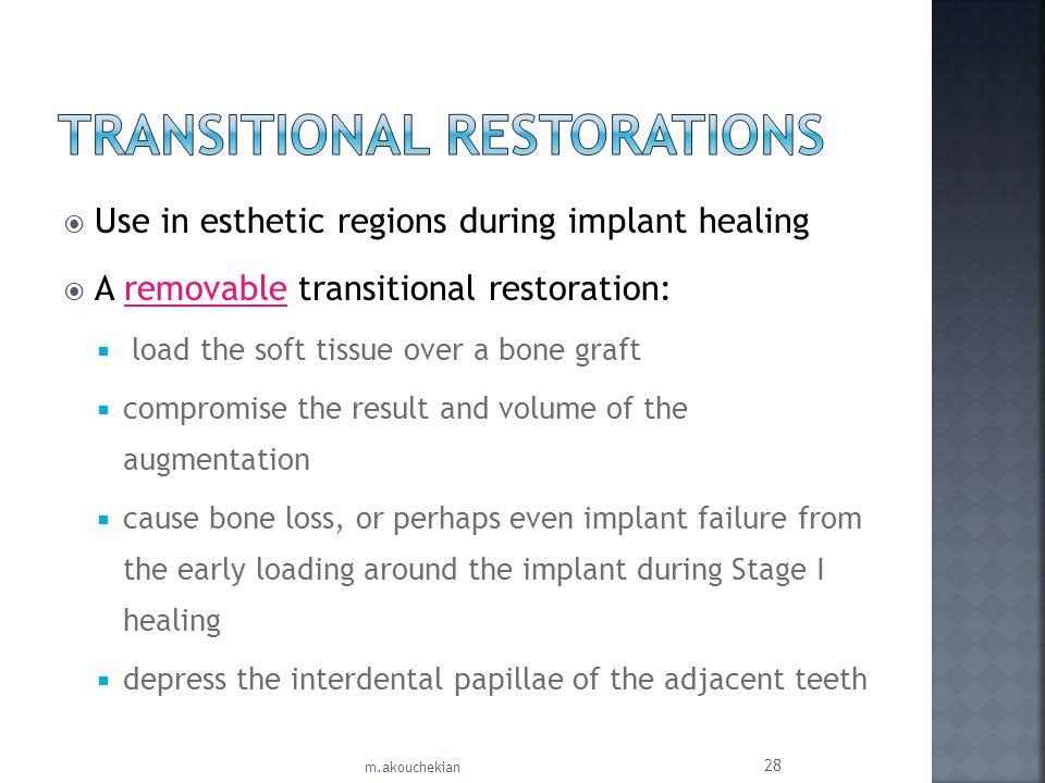 Transitional Restorations