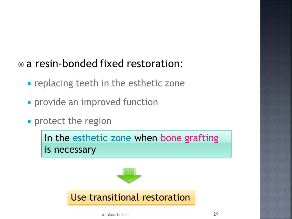 a resin-bonded fixed restoration: