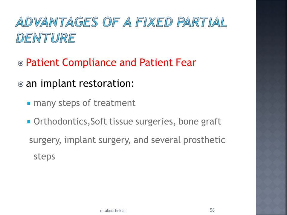 Advantages of a Fixed Partial Denture