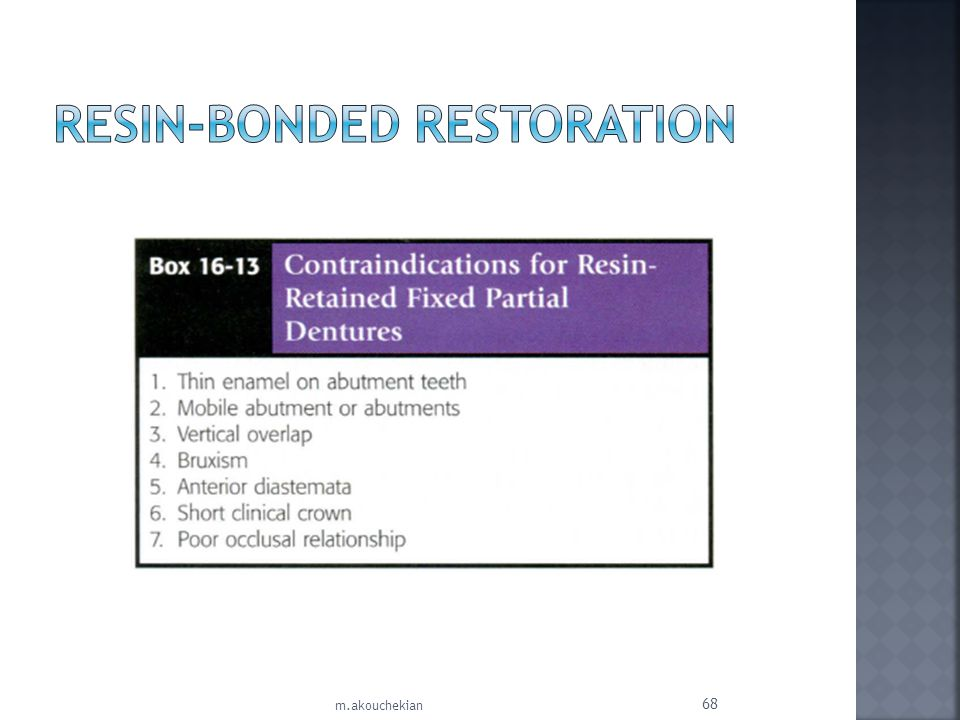 Resin-Bonded Restoration