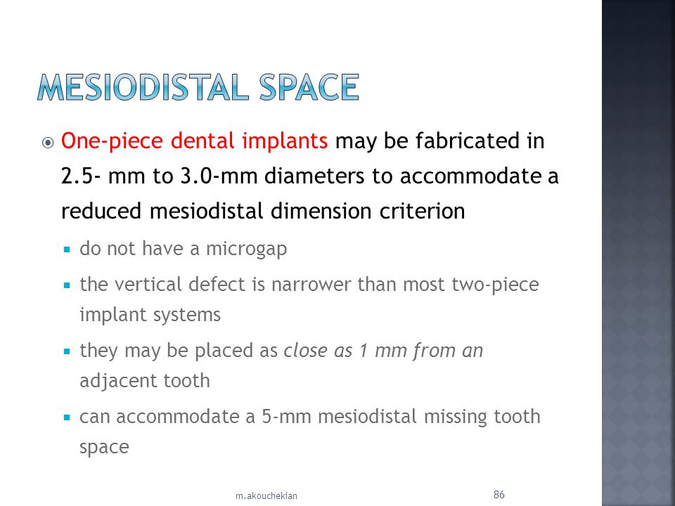 Mesiodistal Space