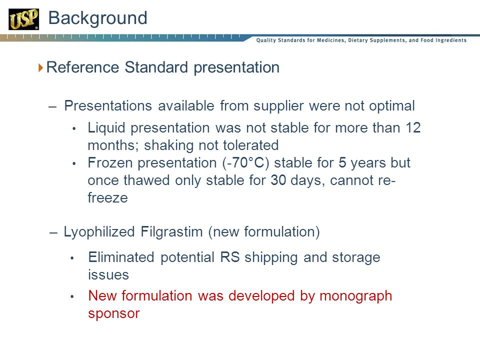 Background Reference Standard presentation