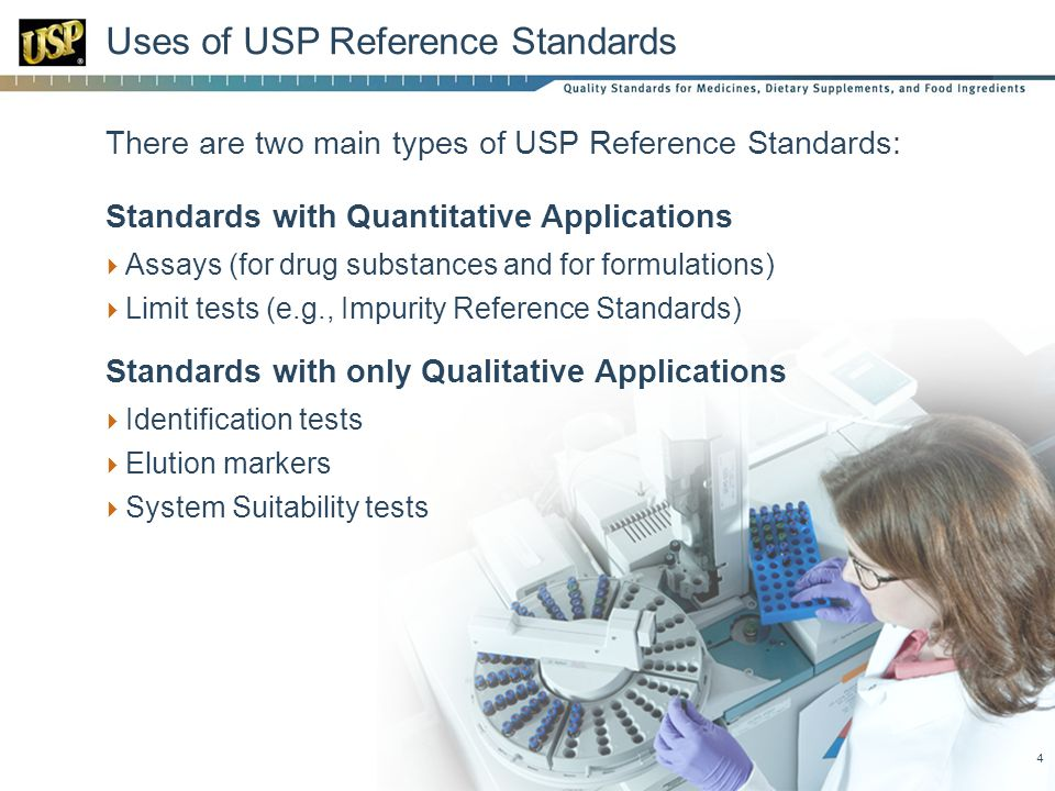 Uses of USP Reference Standards