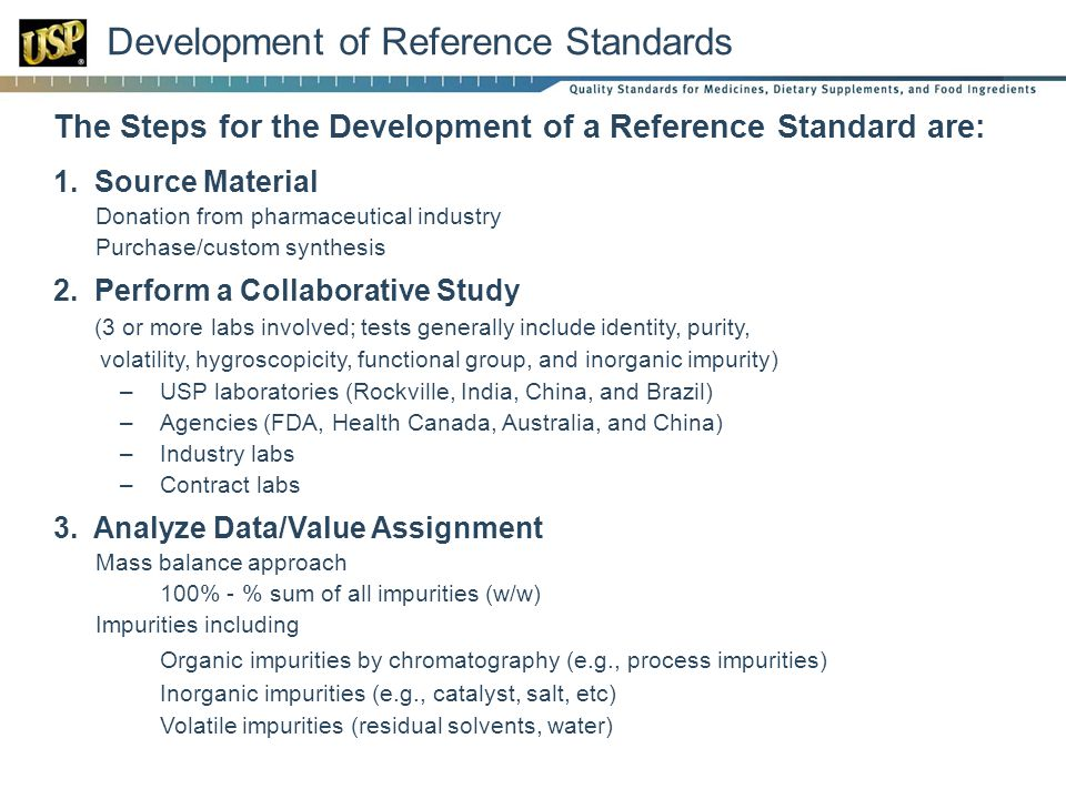 Development of Reference Standards