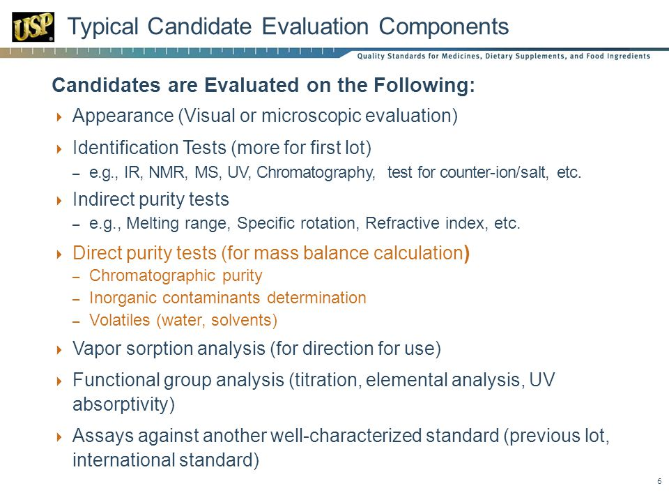 Typical Candidate Evaluation Components